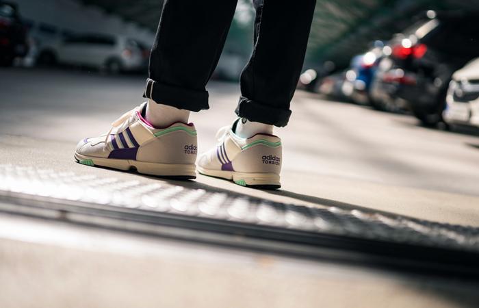 adidas Spezial Hrmny White Purple FX1060 on foot 03