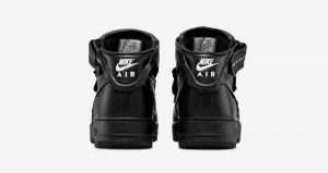 COMME des GARÇONS And Nike Air Force 1 Black Receives A Leather Texture! 04