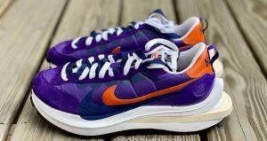 Closer Snaps Of sacai Nike VaporWaffle Dark Iris And Sesame 04