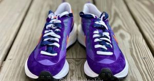 Closer Snaps Of sacai Nike VaporWaffle Dark Iris And Sesame 05