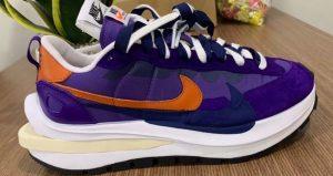 Closer Snaps Of sacai Nike VaporWaffle Dark Iris And Sesame