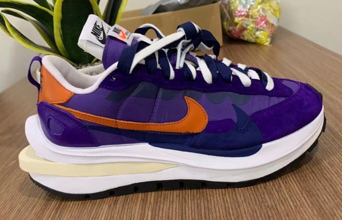 Closer Snaps Of sacai Nike VaporWaffle Dark Iris And Sesame f