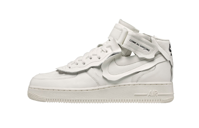 Comme des Garcons Nike Air Force 1 Mid White DC3601-100 01