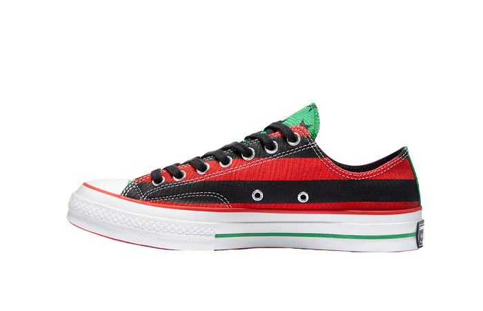 Denim Tears Converse Chuck 70 Low Black Red 170545C 01