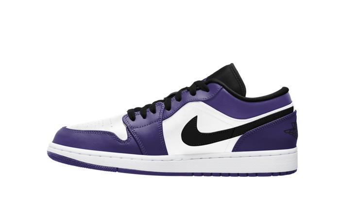 Jordan 1 Low White Court Purple 553558-500 01