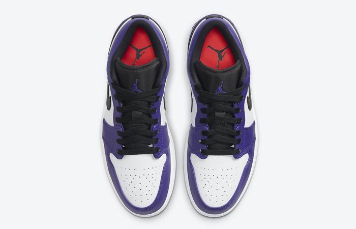 Jordan 1 Low White Court Purple 553558-500 07