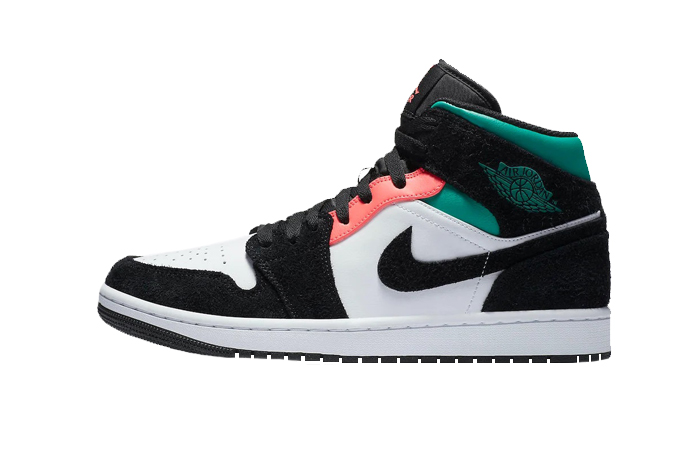 Jordan 1 Mid SE South Beach Black Pastel Green 852542-116 01