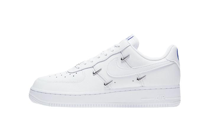 Nike Air Force 1 07 LX Chrome Swooshes White CT1990-100 01