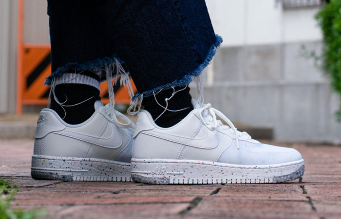 Nike Air Force 1 Crater Foam Summit White CT1986-100 on foot 01