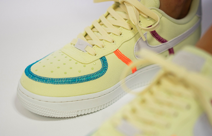Nike Air Force 1 LX Light Lime CK6572-700 on foot 02