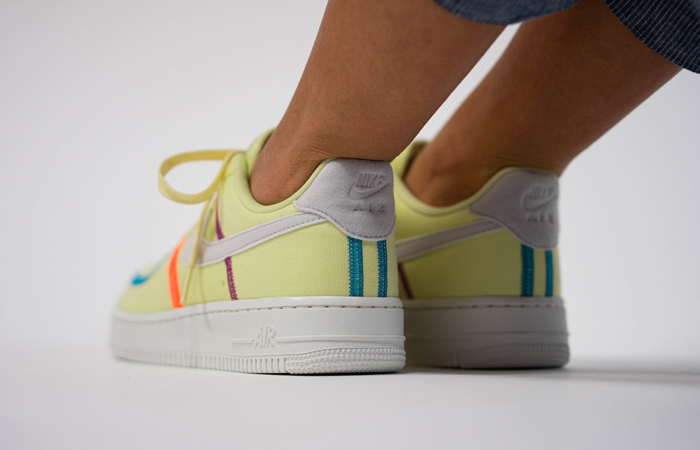 Nike Air Force 1 LX Light Lime CK6572-700 on foot 03