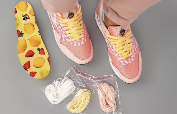 Nike Air Max 1 Strawberry Lemonade CJ0609-600 on foot 02