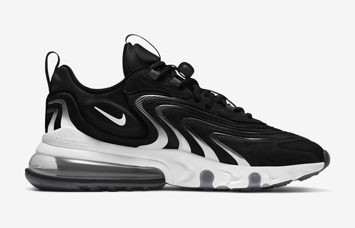 Nike Air Max 270 React ENG Black White CT1281-001 03