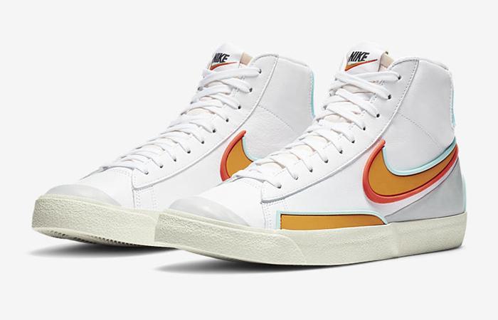 Nike Blazer Mid 77 Infinite White Orange DA7233-100 02