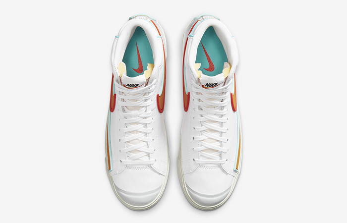 Nike Blazer Mid 77 Infinite White Orange DA7233-100 04