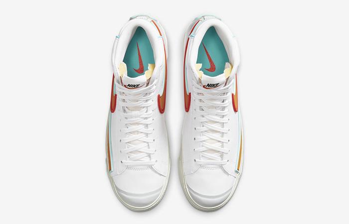 Nike Blazer Mid 77 Infinite White Orange DA7233-100 04