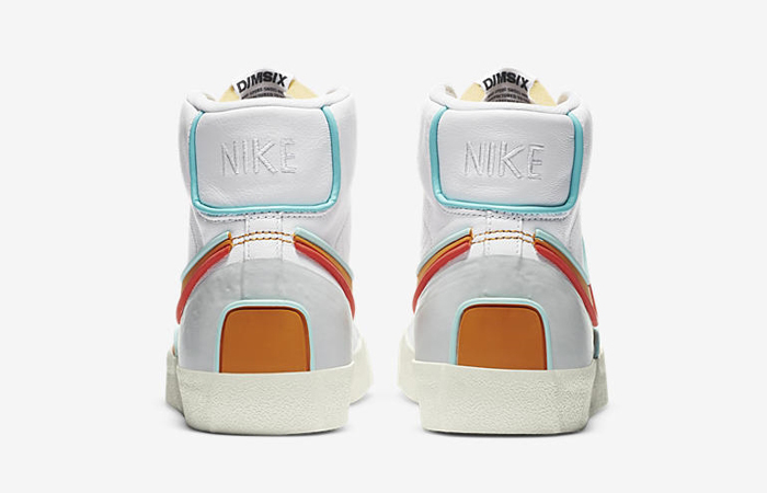 Nike Blazer Mid 77 Infinite White Orange DA7233-100 05