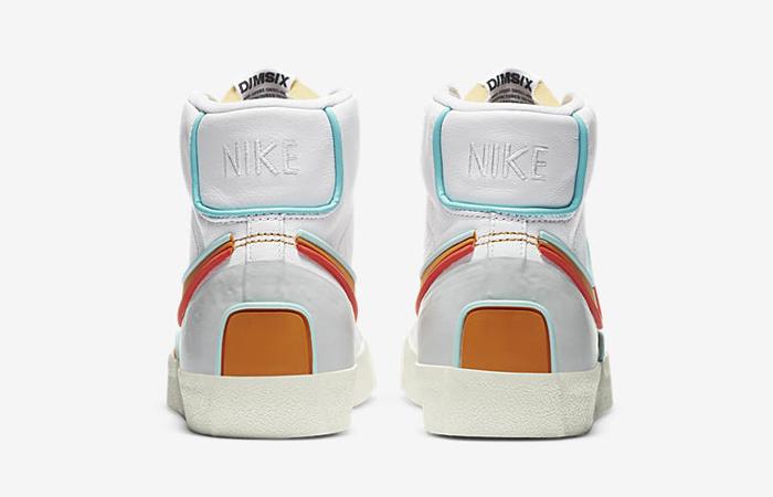 Nike Blazer Mid 77 Infinite White Orange DA7233-100 05