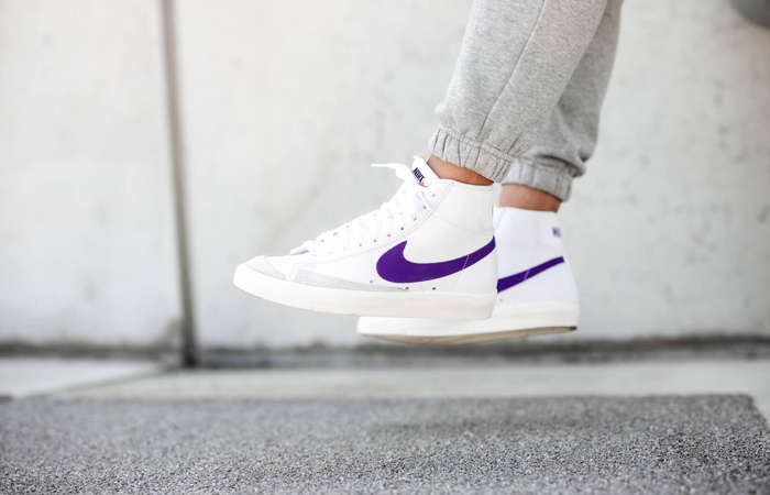 Nike Blazer Mid 77 White Voltage Purple Sail Is Only £65 After Final Reduction At Offspring! f