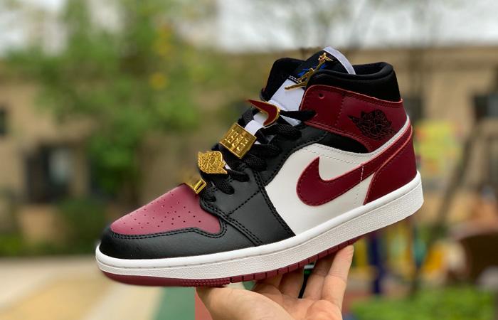 Nike Jordan 1 Mid Maroon Black CZ4385-016 02