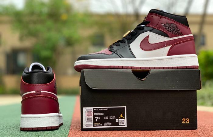 Nike Jordan 1 Mid Maroon Black CZ4385-016 03