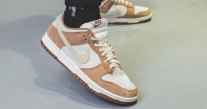 On Foot Images Of Nike Dunk Low PRM Medium Curry 01