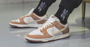 On Foot Images Of Nike Dunk Low PRM Medium Curry 02