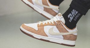 On Foot Images Of Nike Dunk Low PRM Medium Curry