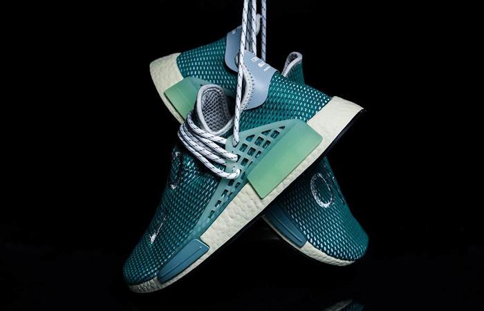 Pharrell adidas NMD Hu Teal Q46466 07