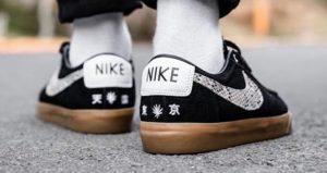Wacko Maria Nike SB Blazer Low Comes With Snakeskin Swooshes 03