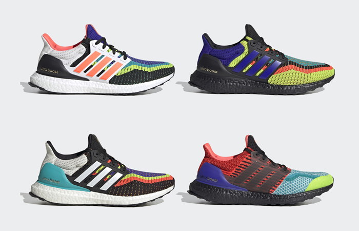 adidas Dropping 4 Colorful Ultra Boost DNA Trainers f