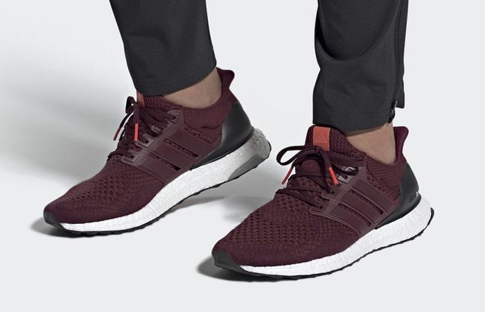 adidas Ultra Boost 1.0 Burgundy AF5836 on foot 01
