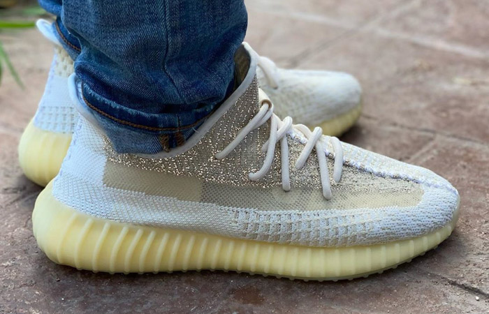 adidas Yeezy Boost 350 V2 Natural FZ5246 on foot 01