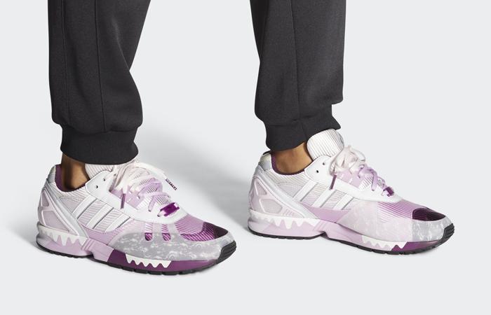 adidas ZX 7000 Heytea Clear Lilac FZ4401 on foot 01