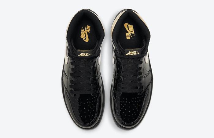 Air Jordan 1 High Patent Black Metallic Gold 555088-032 04