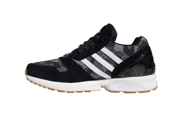 BAPE Undefeated adidas ZX 8000 Black FY8852 01