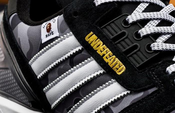 BAPE Undefeated adidas ZX 8000 Black FY8852 04
