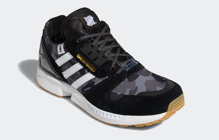 BAPE Undefeated adidas ZX 8000 Black FY8852 05