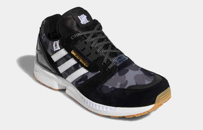 BAPE Undefeated adidas ZX 8000 Black FY8852 05