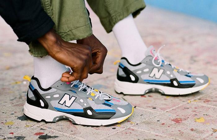 New Balance Silver ML827AAQ on foot 01