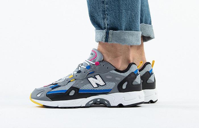 New Balance Silver ML827AAQ on foot 02