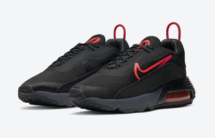 Nike Air Max 2090 Matte Black Red CT1803-002 02