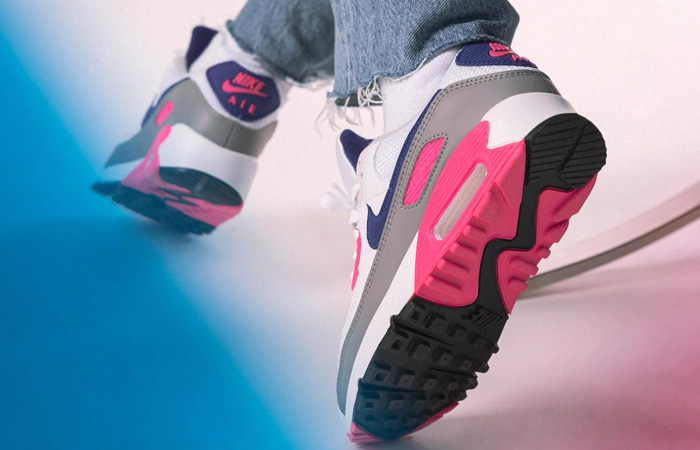 Nike Air Max 90 III Laser Pink Concord CT1887-100 on foot 03