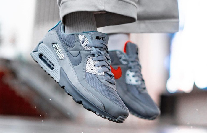 Nike Air Max 90 Moscow Grey Silver DC4466-001 - Fastsole