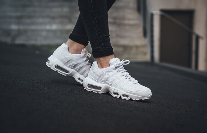 Nike Air Max 95 Essential White CT1268-100 on foot 01