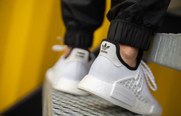 Pharrell adidas NMD Hu White GY0092 on foot 03