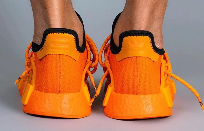 Pharrell adidas NMD Hu Yellow Orange GY0095 on foot 03