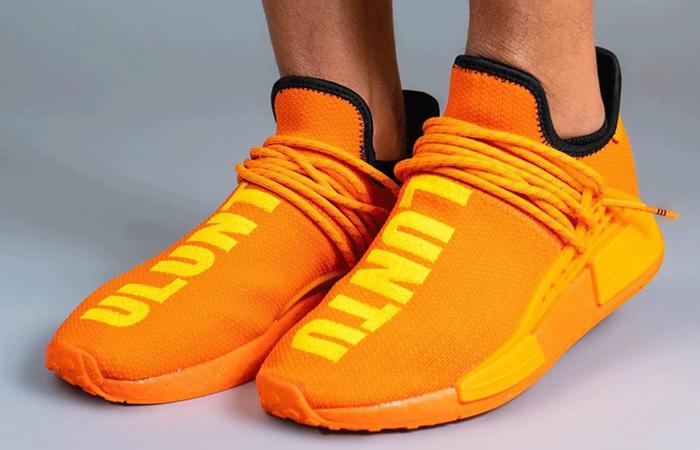 Pharrell adidas NMD Hu Yellow Orange GY0095 onfoot 05