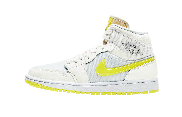 Air Jordan 1 Mid SE White Voltage Yellow DB2822-107 01