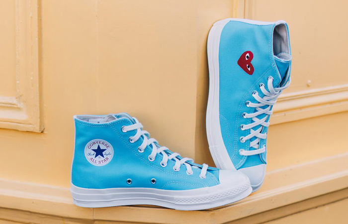 Comme des Garcons Play Converse Chuck Taylor All Star 70 High Blue 168300C 02